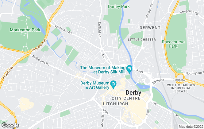 Map for Sowter and Brown, Derby