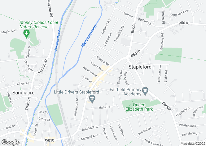 Map for 76 A Derby Road,