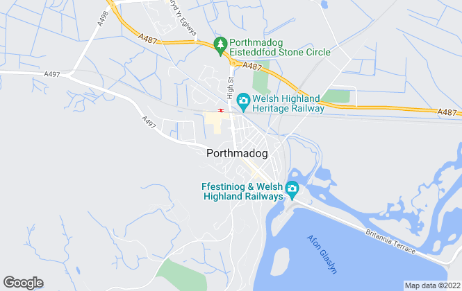 Map for Beresford Adams, Porthmadog