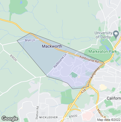 Map of property in Mackworth
