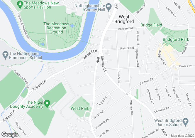 Map for Loughborough Road, West Bridgford