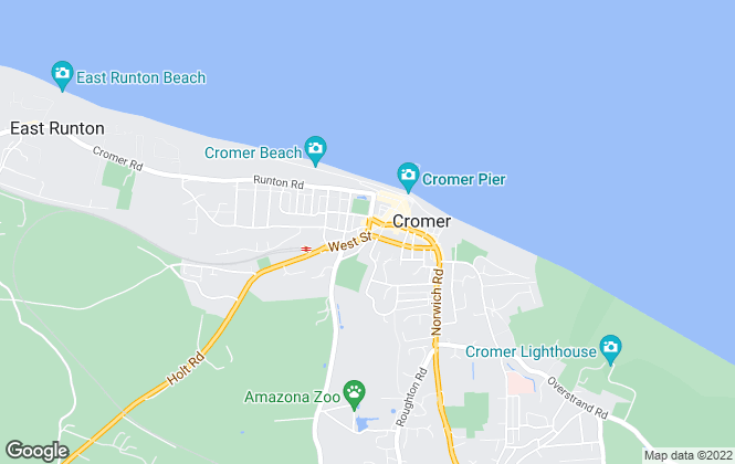 Map for Abbotts Lettings, Cromer