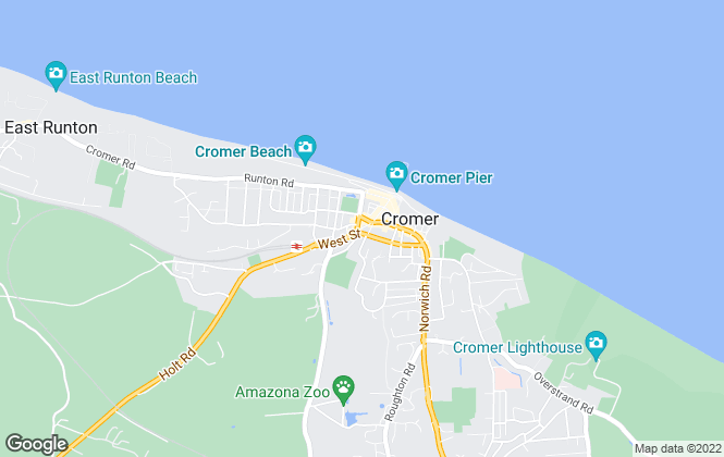 Map for Harrisons, Cromer