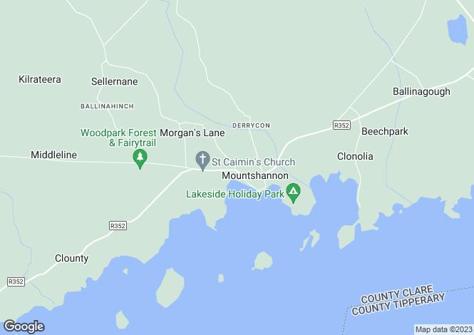 Map for Mountshannon, Clare