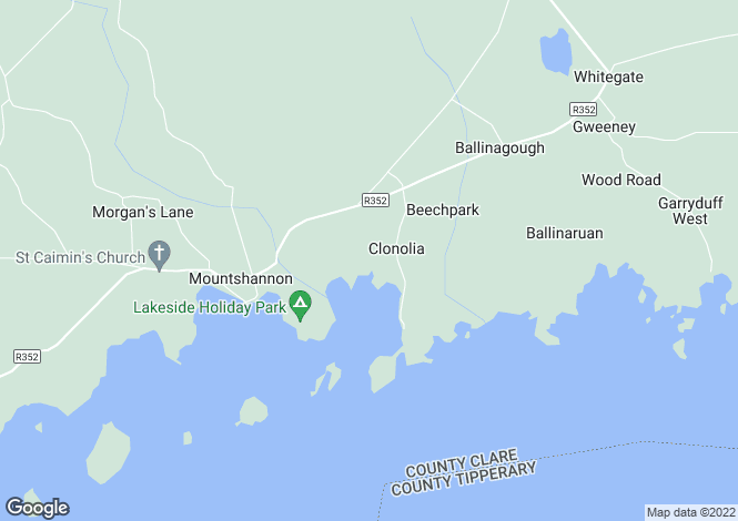 Map for Clare, Mountshannon