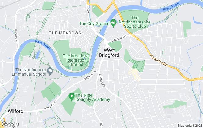 Map for Slater and Brandley, Nottingham - Lettings