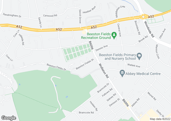 Map for Beeston Fields Drive, Beeston