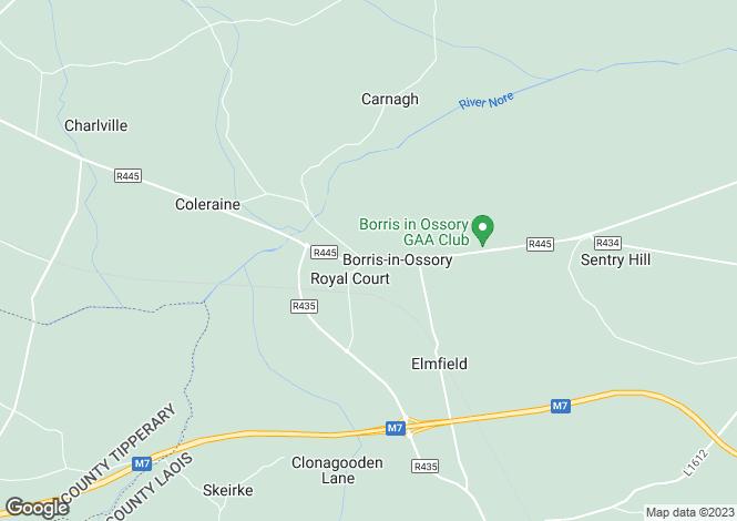 Map for Borris in Ossory, Borris-in-Ossory, Laois