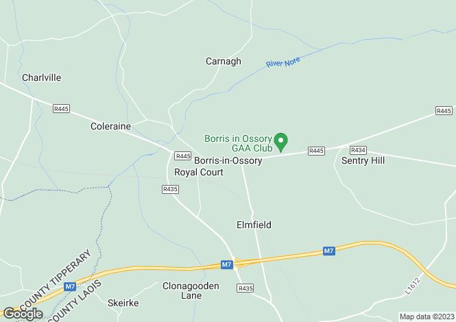Map for Main Street, Borris-in-Ossory, Laois