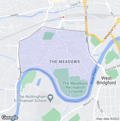Map of property in Meadows