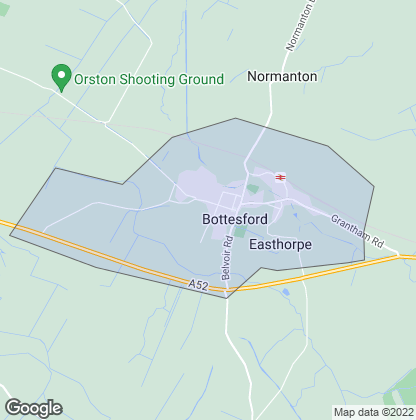 Map of property in Bottesford