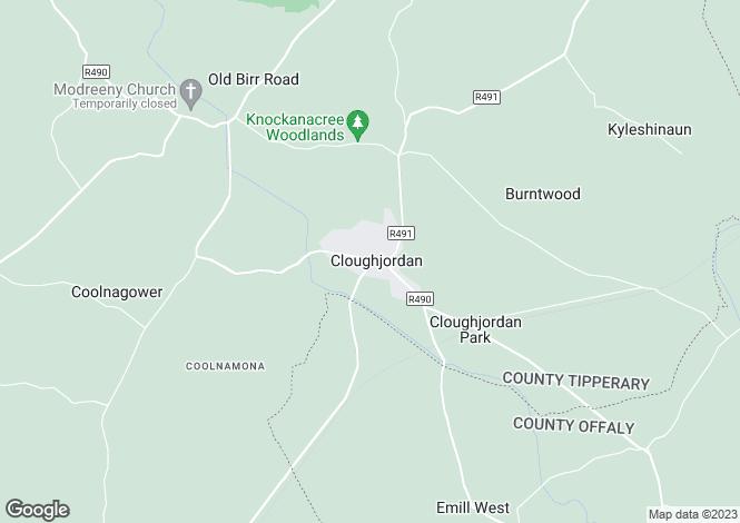 Map for 1 Church St., Cloughjordan, Tipperary