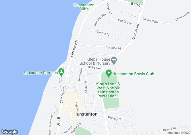 Map for Glebe Avenue, HUNSTANTON