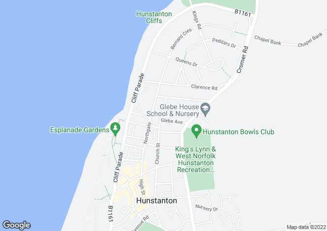Map for St Edmunds Avenue, Hunstanton, Norfolk
