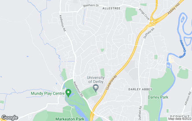 Map for Hall and Benson , Allestree