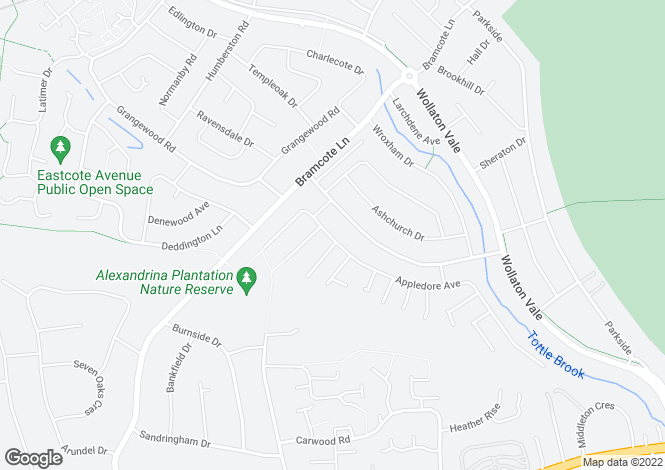 Map for Appledore Avenue, Wollaton, NG9 2RE