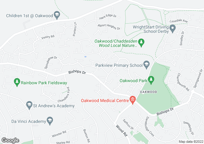 Map for Cardrona Close, Oakwood