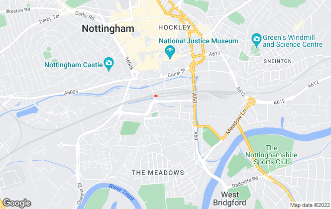 Map for Centrick, Nottingham