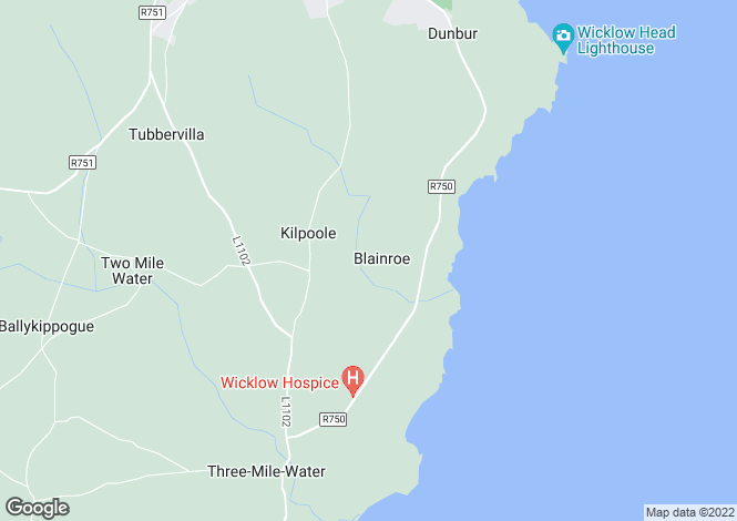 Map for 69 The Wavering, Blainroe, Wicklow