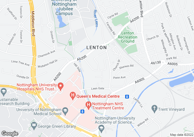 Map for Arnesby Road,