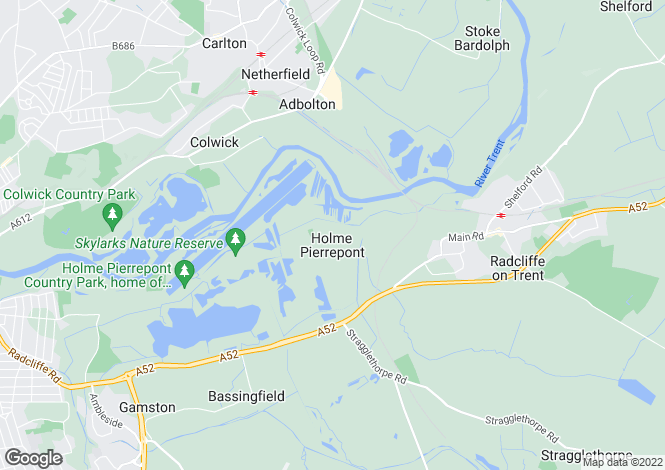 Map for Holme Lane, Holme Pierrepont, Nottinghamshire