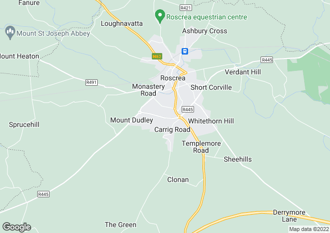 Map for 34 Parkmore Manor, Roscrea, Tipperary