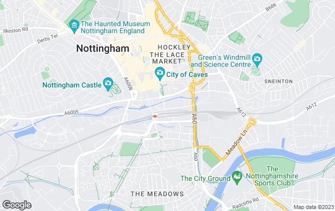Map for Nottingham City Council, Nottingham