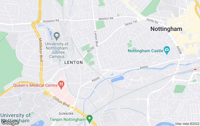 Map for Nicholas Humphreys, Nottingham