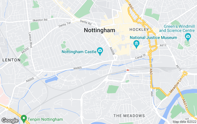 Map for Luxury Lets, Nottingham