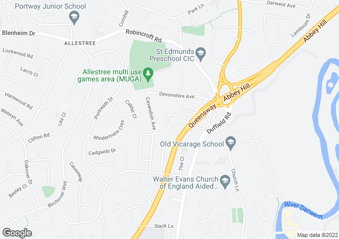 Map for Ashford House St Georges Close Allestree DE22 1JH
