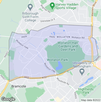 Map of property in Wollaton