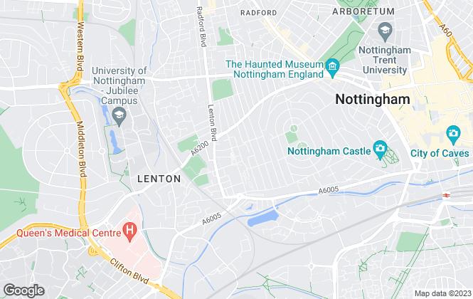 Map for M-S Estates, Nottingham
