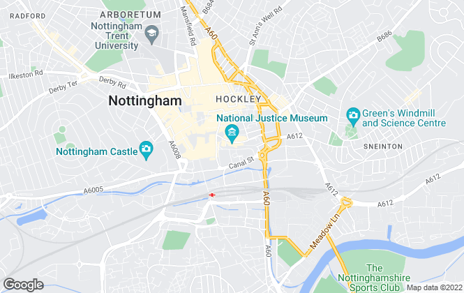 Map for Fairview Estates, Nottingham