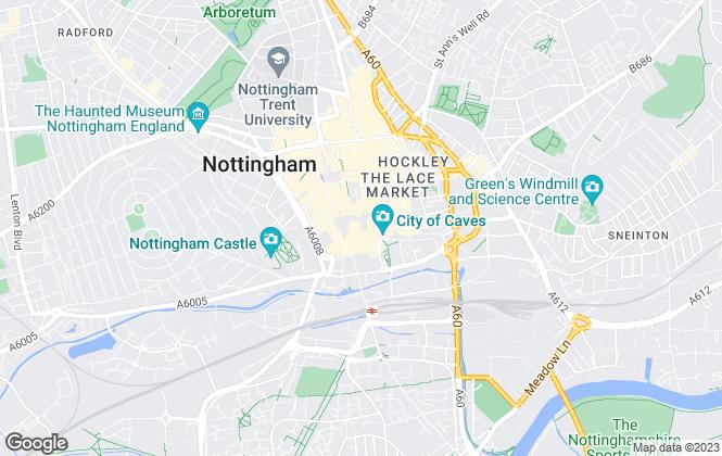 Map for Savills, Nottingham