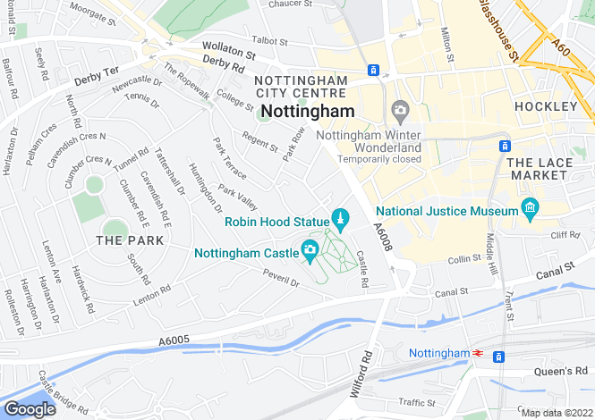 Map for Apartment 61 The Arena, Standard Hill, Nottingham, Nottinghamshire