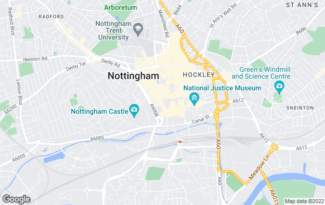 Map for Bruton Knowles , Nottingham