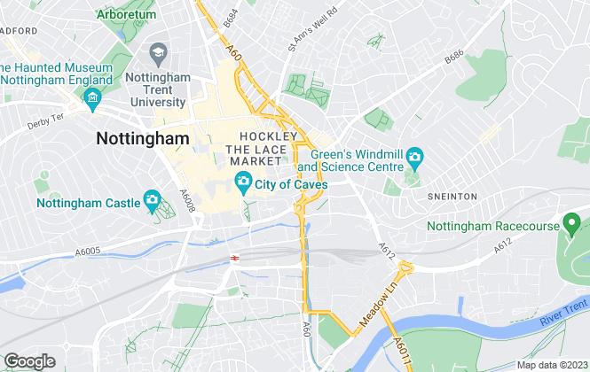 Map for Liberty Gate, Nottingham