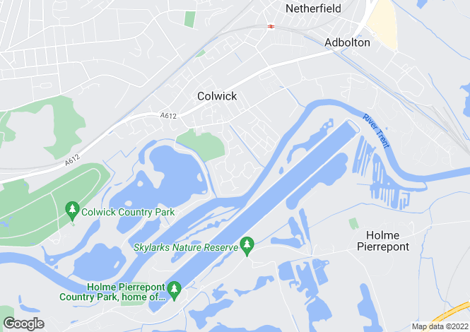Map for Little Ox, Colwick
