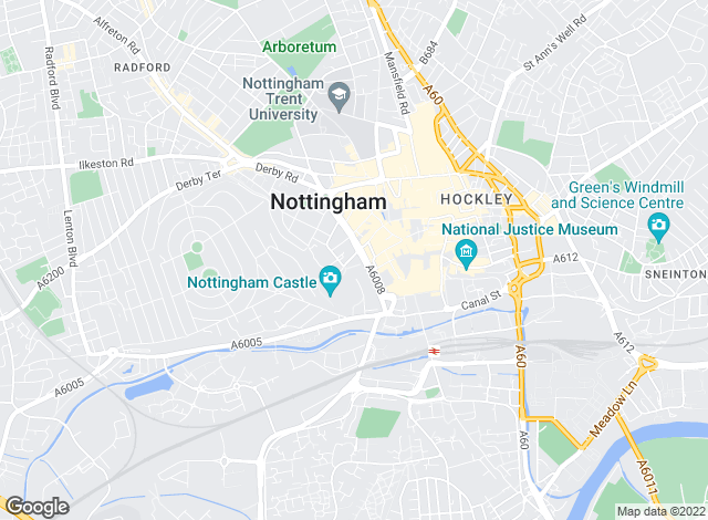 Map for Martin & Co, Nottingham - Lettings & Sales