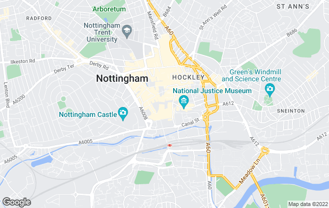 Map for Savills, Nottingham