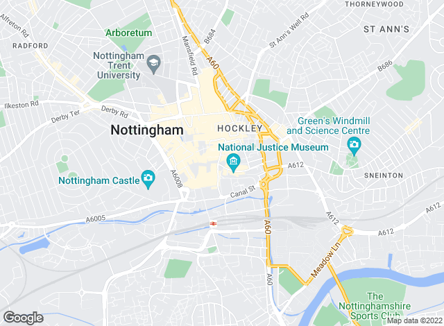 Map for FHP Living, Nottingham - Lettings