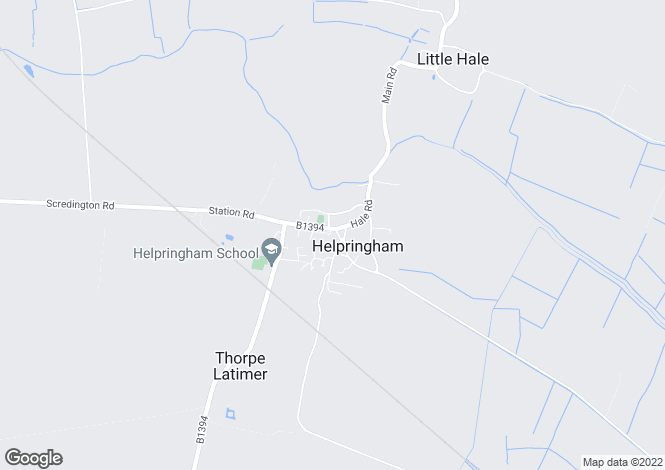 Map for The Green, Helprignham, Near Sleaford, Lincolnshire