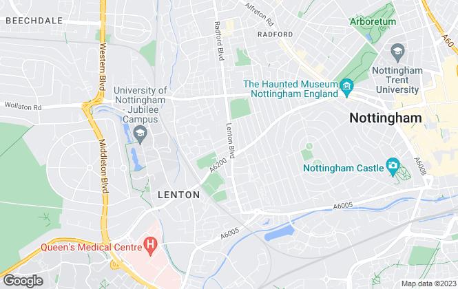 Map for Tomlinson Estate Management Limited, Lenton - Sales
