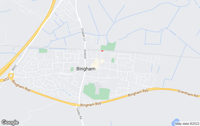 Map for Newton Fallowell, Bingham Lettings