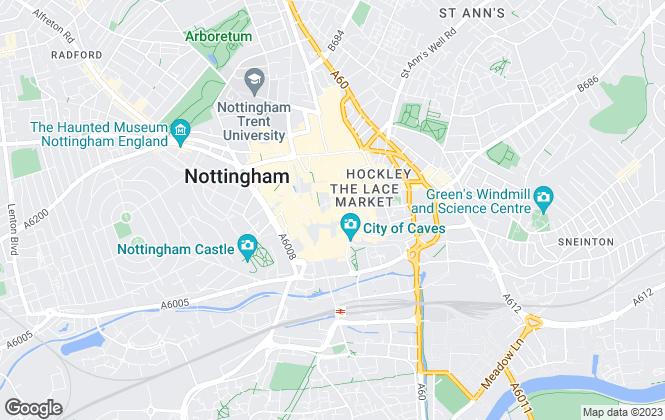 Map for Christie & Co , Nottingham