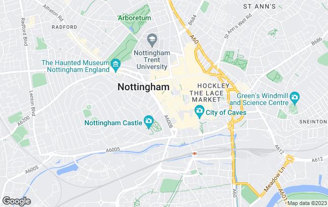 Map for Everard Cole Ltd, Nottingham
