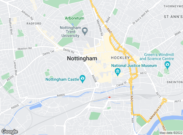 Map for Bairstow Eves Lettings, Nottingham Lettings