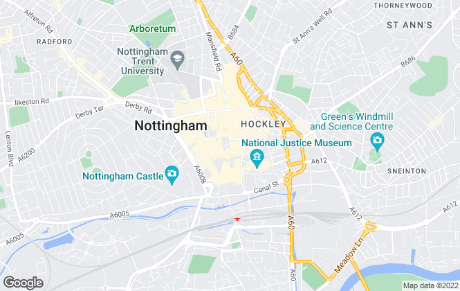 Map for YOUR MOVE, Nottingham