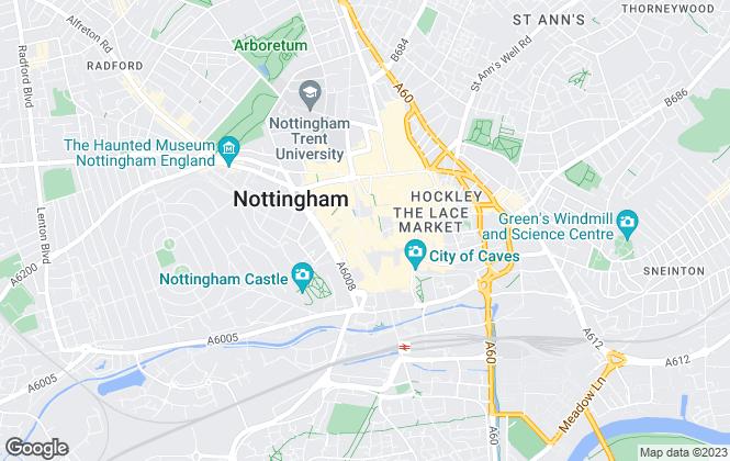 Map for Frank Innes, Nottingham