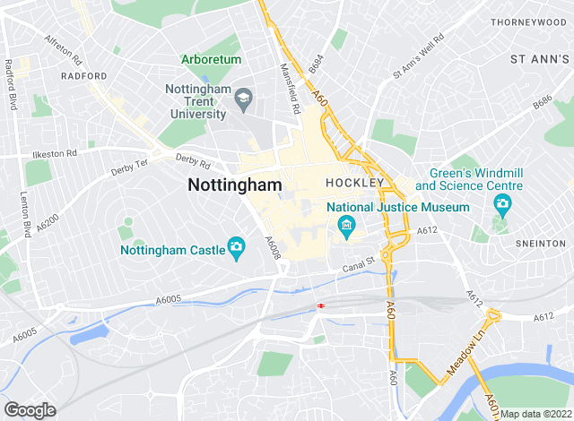 Map for Frank Innes Lettings, Nottingham